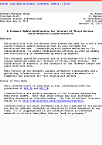 IETF A Firmware Update Architecture for Internet of Things Devices